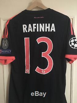 Rafinha Bayern Munich match prepaired 3rd jersey 15/16 size 6