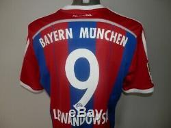 Rare 2014-15 Bayern Munich Home Lewandowski #9 football shirt Jersey Soccer L
