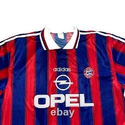 Rare Bayern Munich Home 1996/97 Football Shirt Jersey Adidas #13 Basler Size XL