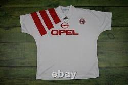 Rare FC Bayern München Trikot Adidas Munich Football shirt jersey Opel size M