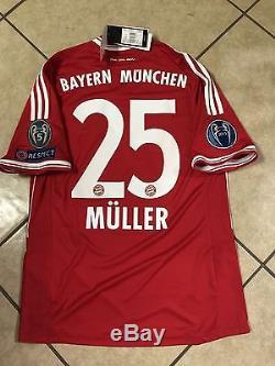 Rare Germany FC bayern Munich Vs Real Madrid Shirt Muller soccer Trikot jersey