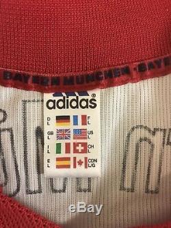 Rare Vintage Adidas Bayern Munchen Munich Jens Jeremies Futbol Soccer Jersey