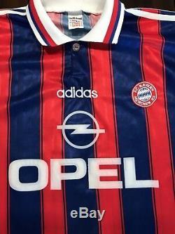 Rare Vintage Adidas Bayern Munchen Munich Jürgen Klinsmann Futbol Soccer Jersey