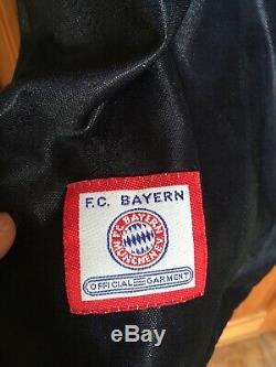 Rare Vintage Adidas FC Bayern Munchen EV Football Jersey Opel Sponsor #7 Scholl