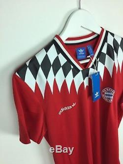 release date: 74a5c c4595 Retro Bayern Munich Bnwt Adidas Originals Football Shirt (m ...