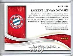 Robert Lewandowski 2019-20 Panini Immaculate Soccer Superior Jersey Auto #27/50