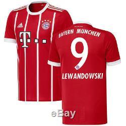 Robert Lewandowski Bayern Munich adidas 2017/18 Home Authentic Jersey
