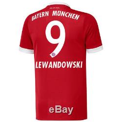 Robert Lewandowski Bayern Munich adidas 2017/18 Home Authentic Jersey Red