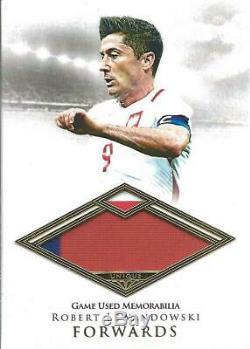 Robert Lewandowski Futera Forwards Game Used Jersey 23/29 Poland Bayern Munich