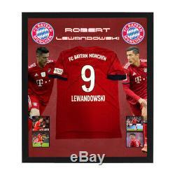 Robert Lewandowski Hand Signed Framed Bayern Munich Soccer Jersey Poland Muller