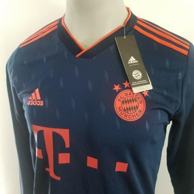 Robert Lewandowski New 2019/20 Bayern Munich Third Navy Blue Long Sleeve Jersey