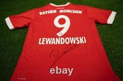 Robert Lewandowski Signed Bayern MUNICH JERSEY AFTAL COA (A)