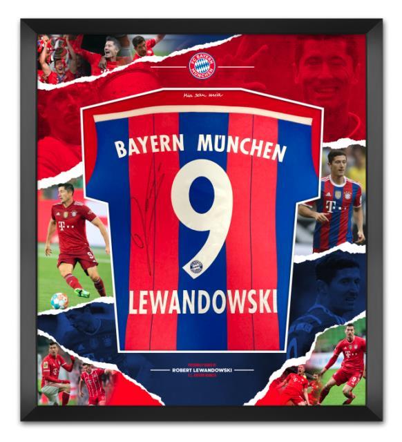 Robert Lewandowski Signed & Framed Bayern Munich Jersey Aftal Coa