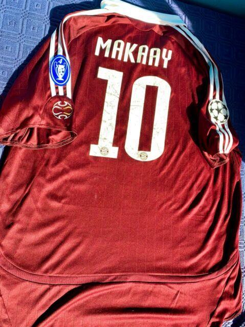 Roy Makaay 06/07 Season Kit / Bayern Munich / Third Red Adidas Jersey / Size Xl