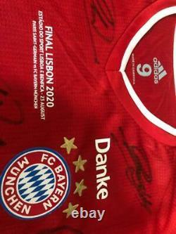 Shirt / Jersey Bayern Munich Final Champions League 19/20 Autographed Players