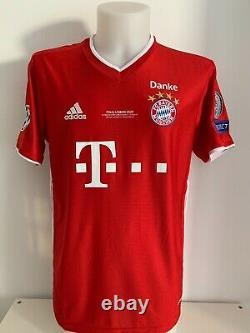 Shirt signed autographs 9 Lewandowski Bayern Munchen home soccer jersey COA