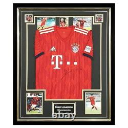 Signed Robert Lewandowski Jersey Framed FC Bayern Munich Icon +COA