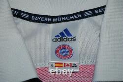 Size XL Bayern Munich 2000-2001 Away Football Shirt Soccer Jersey Adidas Opel