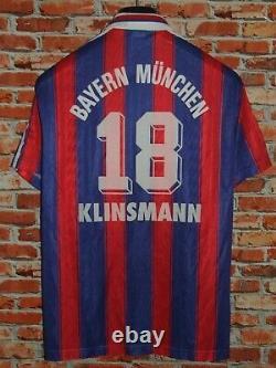 Soccer Jersey Trikot Camiseta Maillot Bayern Monaco Munich Klinsmann Size M