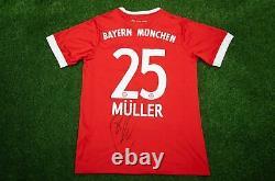 Thomas Muller Signed Bayern MUNICH JERSEY Champions League Winner AFTAL COA