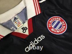 VTG 1997-98 Bayern Munich ALEXANDER ZICKLER #21 Black Adidas Soccer Jersey footb
