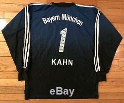 VTG Bayern Munich Oliver Kahn Adidas Goalie Jersey T-Mobile Bundesliga Germany L