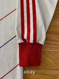 VTG RARE Bayern Munich 1985-89 Adidas AWAY L/S Football Jersey Shirt Kit! Size L