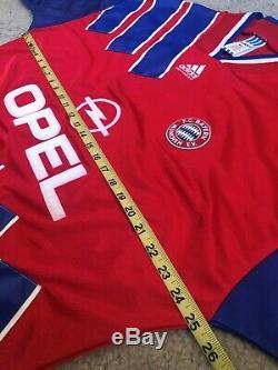 Vintage 1993-94 Bayern Munich Bundesliga Adult XL Red Adidas Soccer Jersey