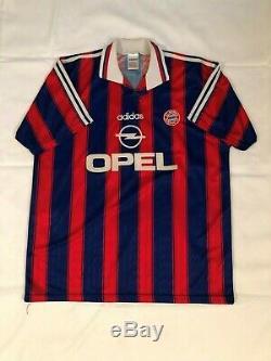 Vintage 1996 Bayern Munich Bundesliga Adult XL Adidas Soccer Jersey