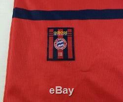 Vintage Adidas 1998-2000 Bayern Munich Lothar Matthaus Soccer Jersey Size 2XL
