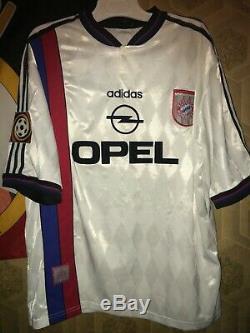 Vintage Adidas Bayern Munich #18 Jurgen Klinsmann Retro Football Shirt XL Jersey