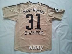 Vintage Adidas Climacool Beyern Munich #31 Schweinsteiger Gold Jersey Size M
