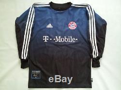 Vintage Adidas Climalite Bayern Munchen #1 Oliver Kahn Goalkeeper Jersey Size S