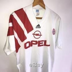 Vintage Adidas Equipment Bayern Munich Away 1991/93 Soccer Shirt Jersey / Size L