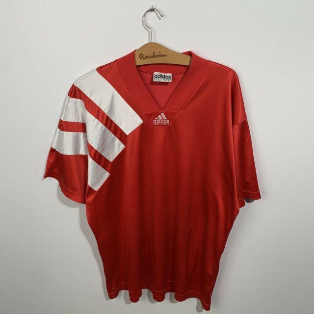 Vintage Adidas Football Shirt Equipment Red Bayern Munich Men's Jersey Size Xl