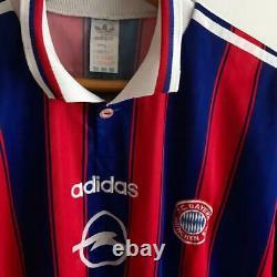 Vintage Bayern Munich Home 1996/97 Original Football Shirt Jersey Adidas Size XL