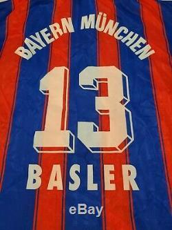 Vintage Bayern Munich Munchen Adidas Basler 1996 FOOTBALL Soccer Trikot JERSEY