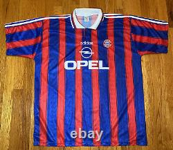 Vintage adidas Bayern Munchen 1995 Opel Munich Jersey Soccer Germany Used Sz XXL