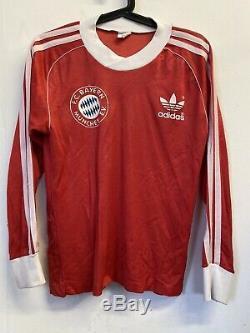 Vtg 1970s Udo Horsmann FC Bayern Munchen Munich Adidas Jersey Shirt 1980s