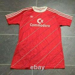 Vtg 80's Adidas Bayern Munchen Commodore Soccer Jersey Men's Sz L