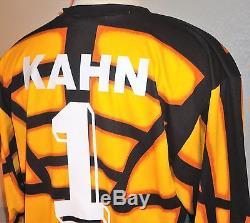 new york 5666d 324dc Vtg Adidas Germany Bayern Munich Munchen Kahn 95 Gk Soccer Jersey Football  Shirt